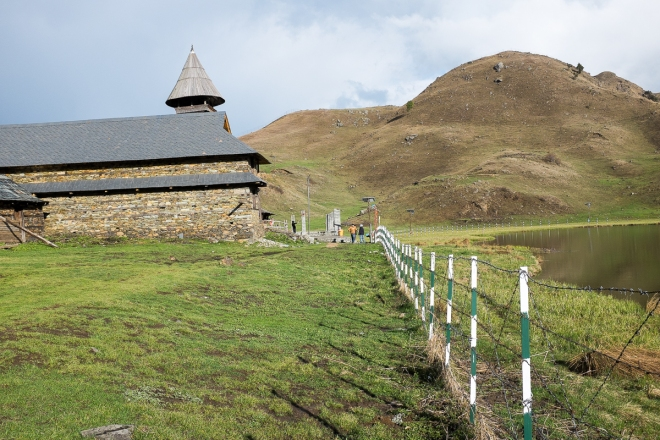 Boundary around Prashar lake