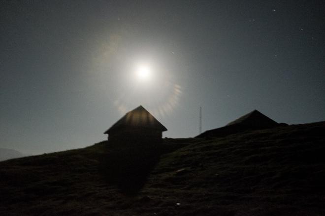 Moon shines at its prime